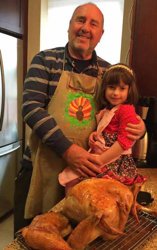 Papa and sous chef with Turkey